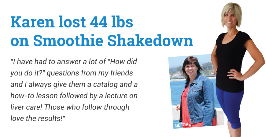 Karen Lost 44 lbs. - Smoothie Shakedown