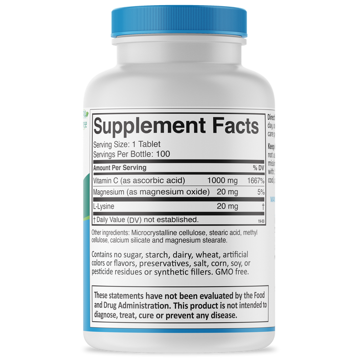 Time-C Supplement Facts