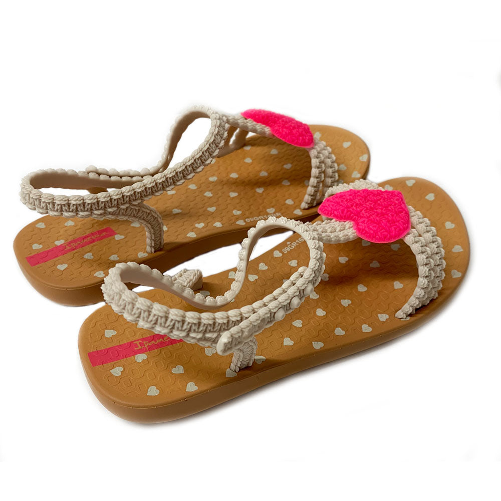 Tan Pink 'My First Ipanema' Heart Sandal