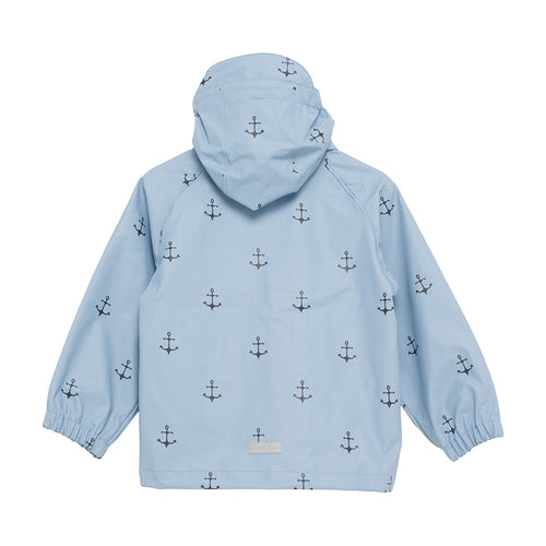Julien Raincoat- Ashley Blue Anchor Print