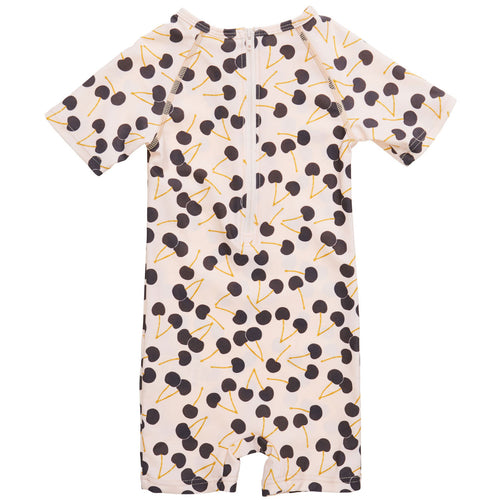 UV50 Protective Goldie Raven Cherries Sunsuit