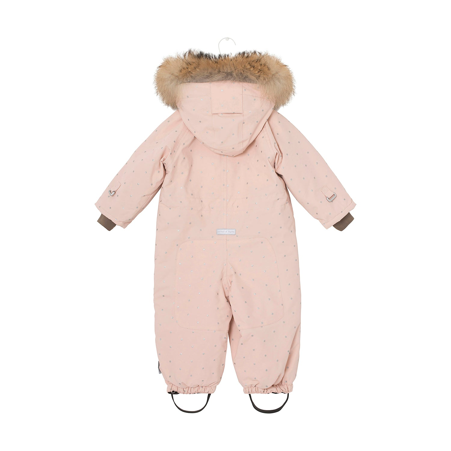 Wisti Dots Snowsuit-Rose Smoke