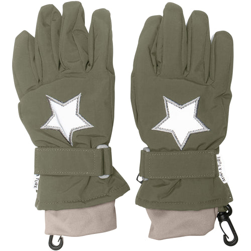 Celio Star Gloves- Clover Green