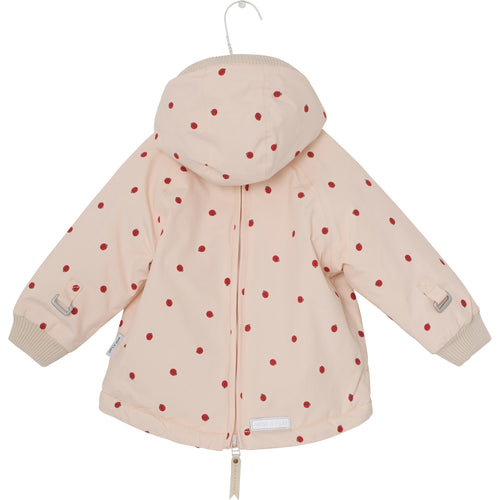 Baby Wen Winter Jacket-Crème de Peche Ladybirds