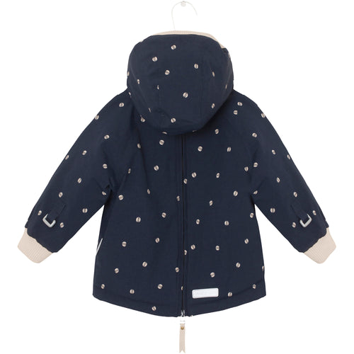 Baby Wen Winter Jacket- Sky Captain Blue Ladybirds