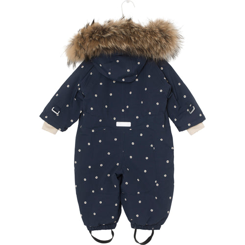 Wisti Snowsuit- Sky Captain Blue Ladybirds