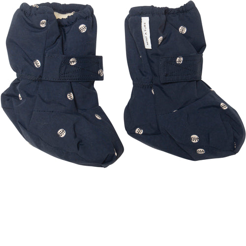 Winn Outdoor Booties- Sky Captain Blue Ladybirds