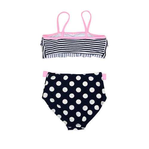 UV50+ Spot and Stripe Navy Bikini