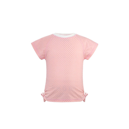 UV50+ Ballet Pink & Gold Dots Short Sleeve Rash Top