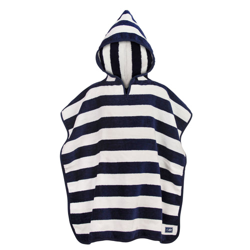 Navy Stripe Hooded Towel