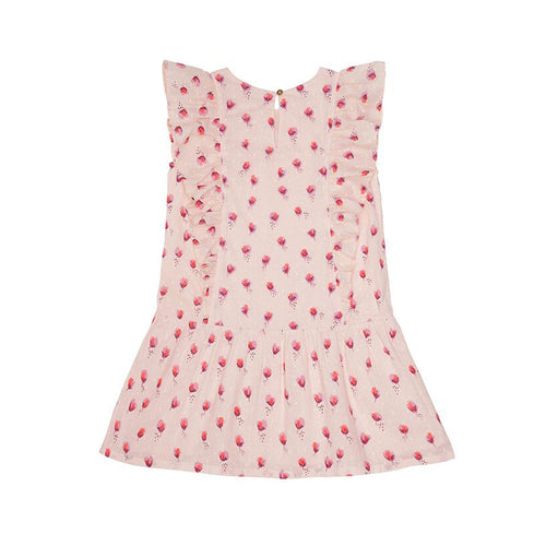 Pink Rosebud Printed Dress