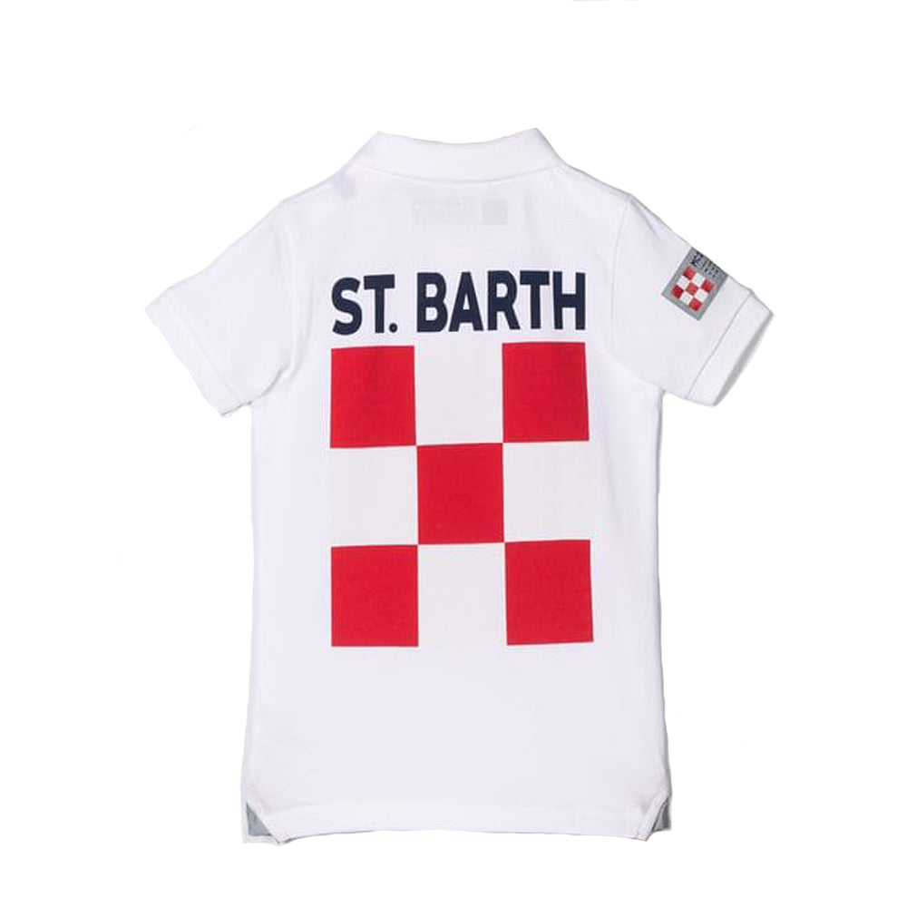 Boys MC2 Saint Barth White Polo Shirt