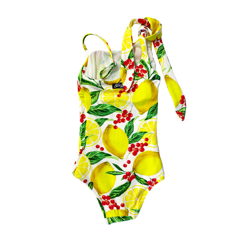 All Over Lemon Print Swimsuit
