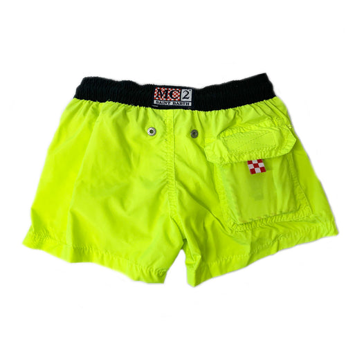 Neon Yellow Boys Swim Shorts