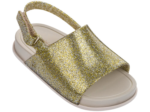 Mini Gold Glitter Beach Slide Sandal
