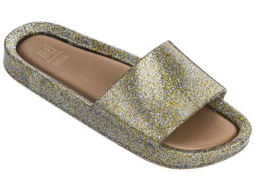 Gold Glitter Beach Slide