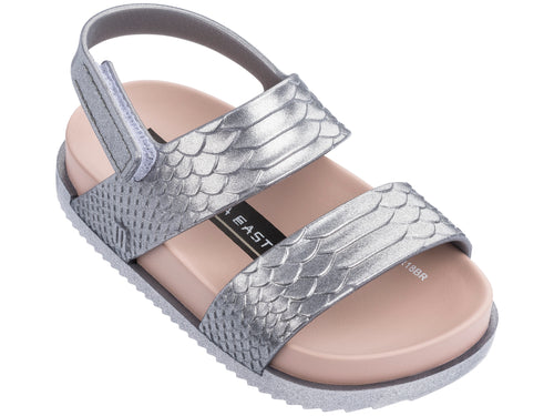 BAJA EAST Luxe Cosmic Python Silver Sandal