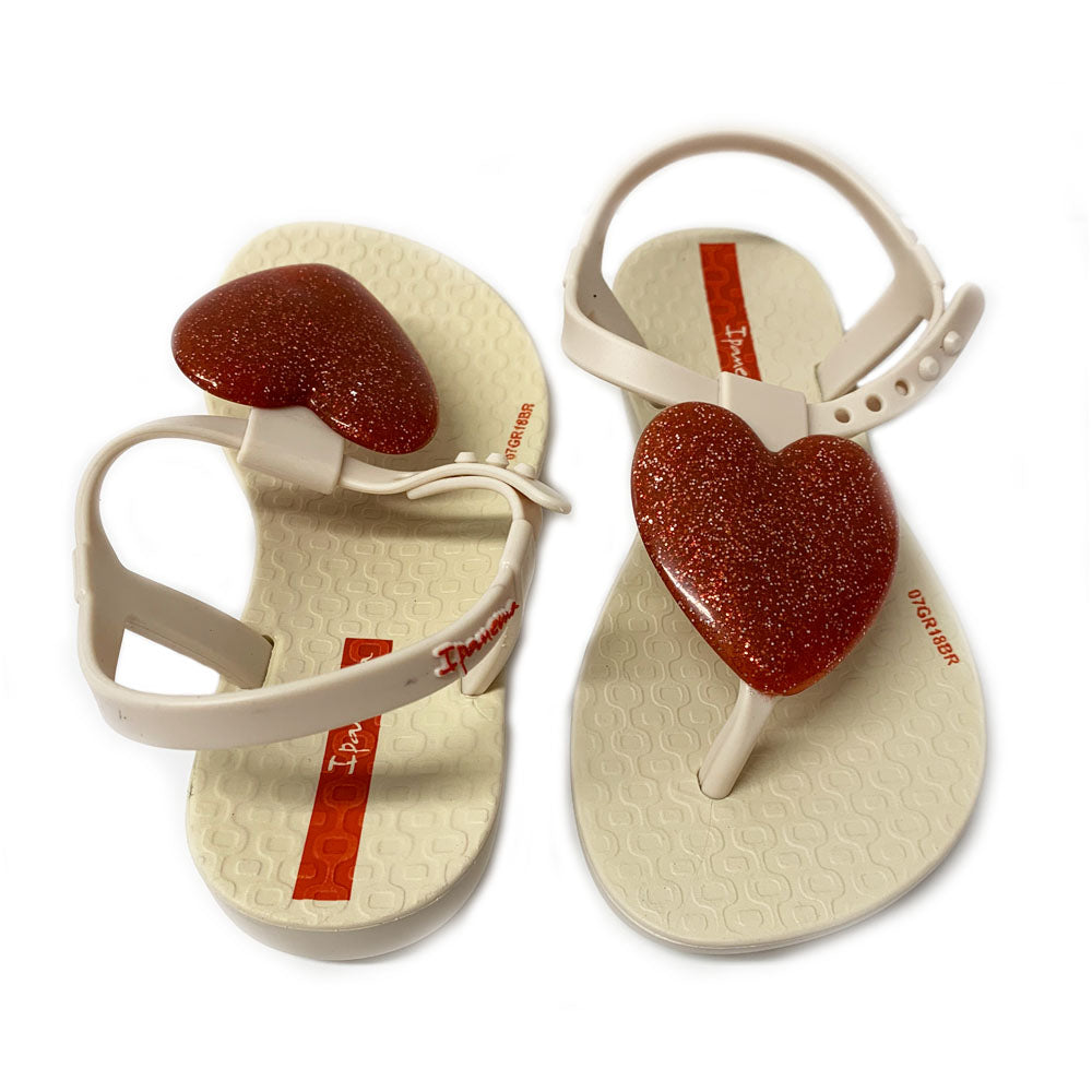 Cream and Red Love Sandal