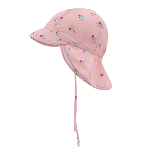 Pink Printed UV50+ Sun Hat