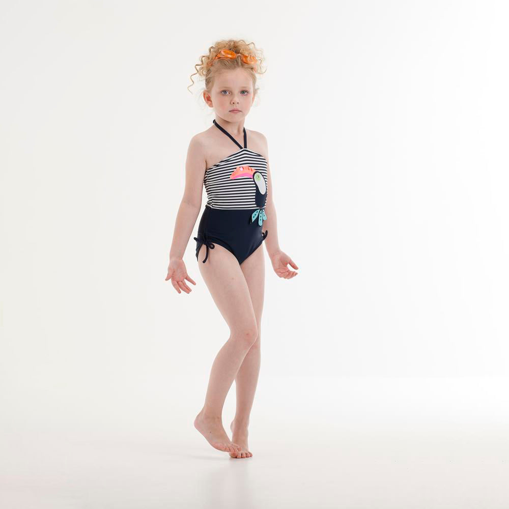 UV50+ Navy Parrot Swimsuit