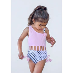 UV50+ Girls Asymmetric Swimsuit