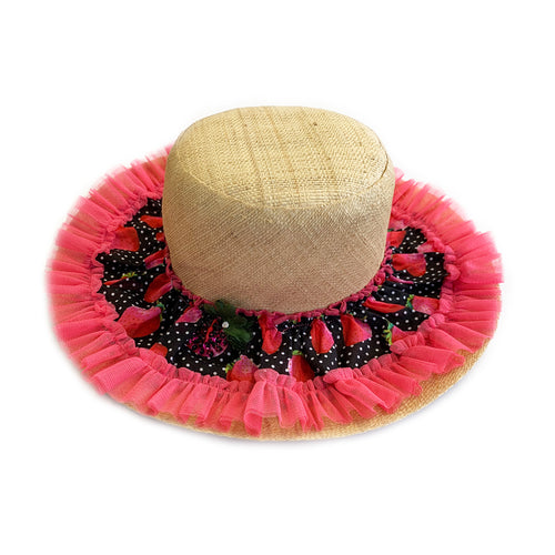 Strawberry Straw Sun Hat