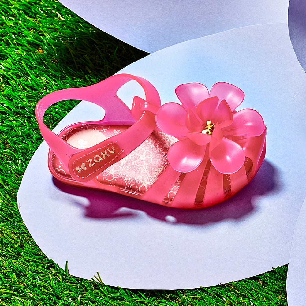 Baby Bloom Candy Scented Jellie Sandal - Pink Neon