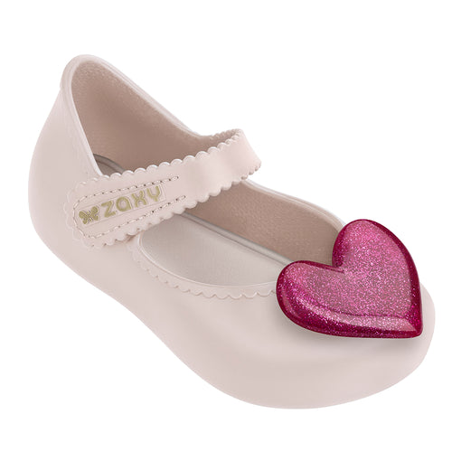 Baby Glitter Heart Candy Scented Jellie Ballerina - Pearl
