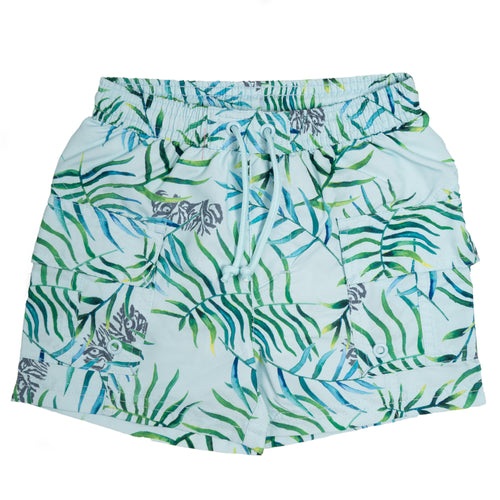 Mateo Hawaii Tiger Surf Shorts Omphalodes Blue