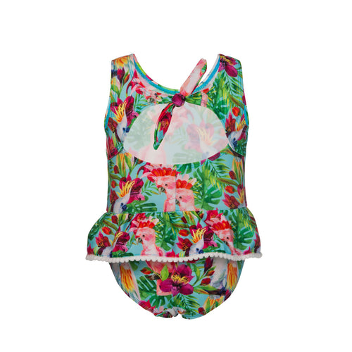 UV50+ Tropical Birds Baby Skirt Swimsuit