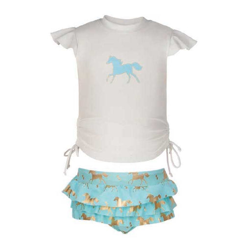 UV50+ Gold Horse Ruffle Set
