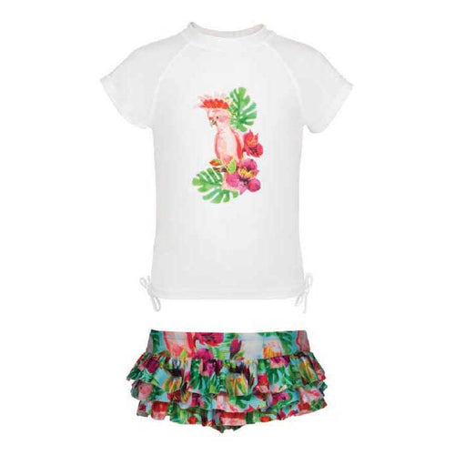 UV50+ Tropical Birds Ruffle Set