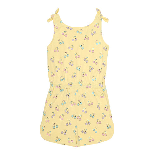 Yellow Cherry Print Jumpsuit