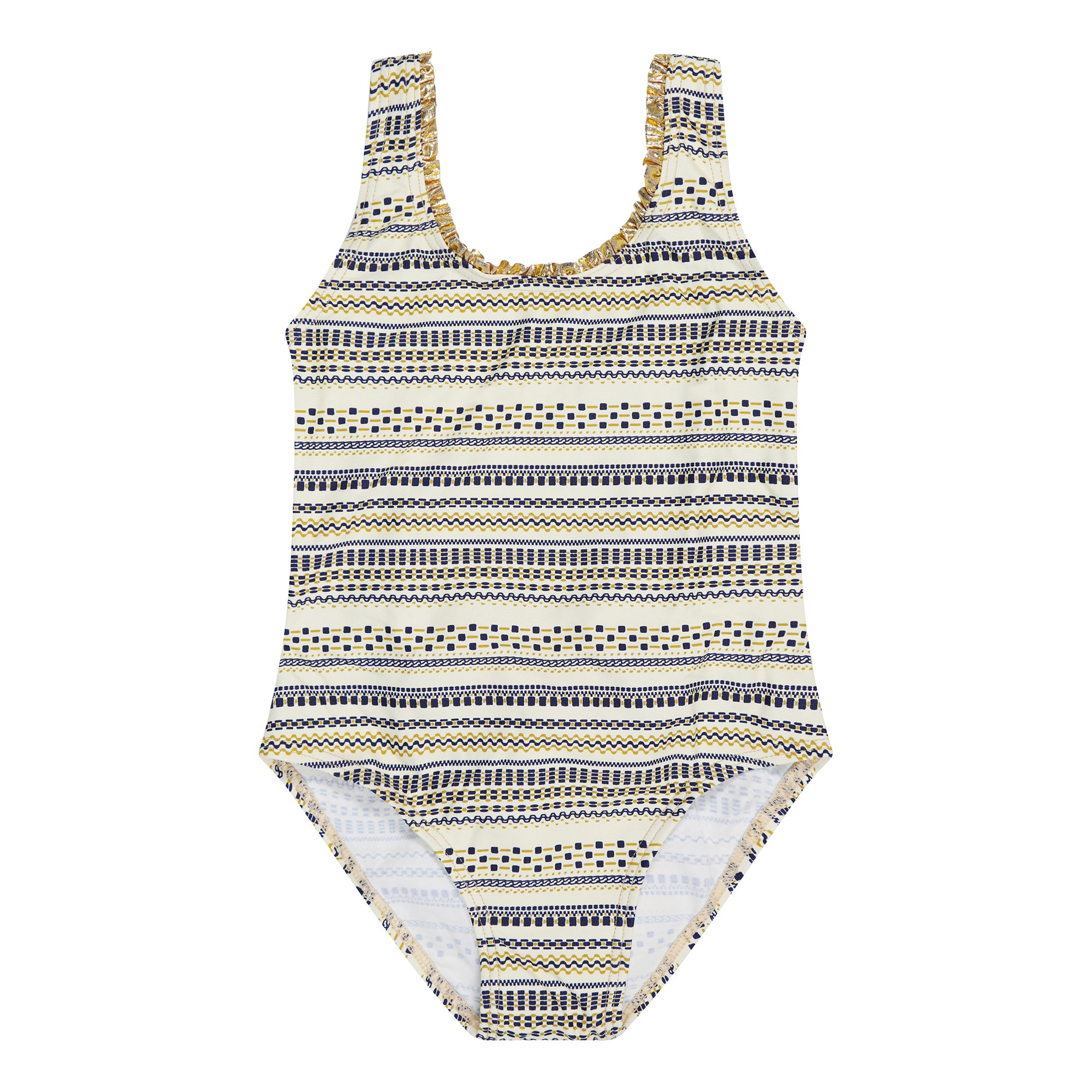 Grecia Navy & Gold Bow Swimsuit