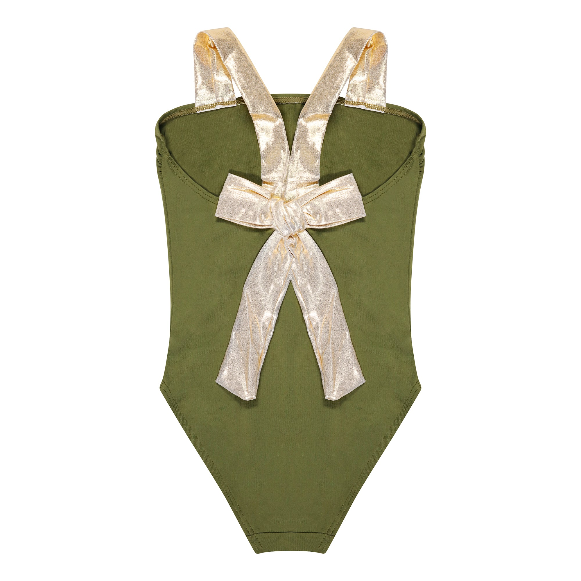 Croacia Khaki & Gold Bow Swimsuit