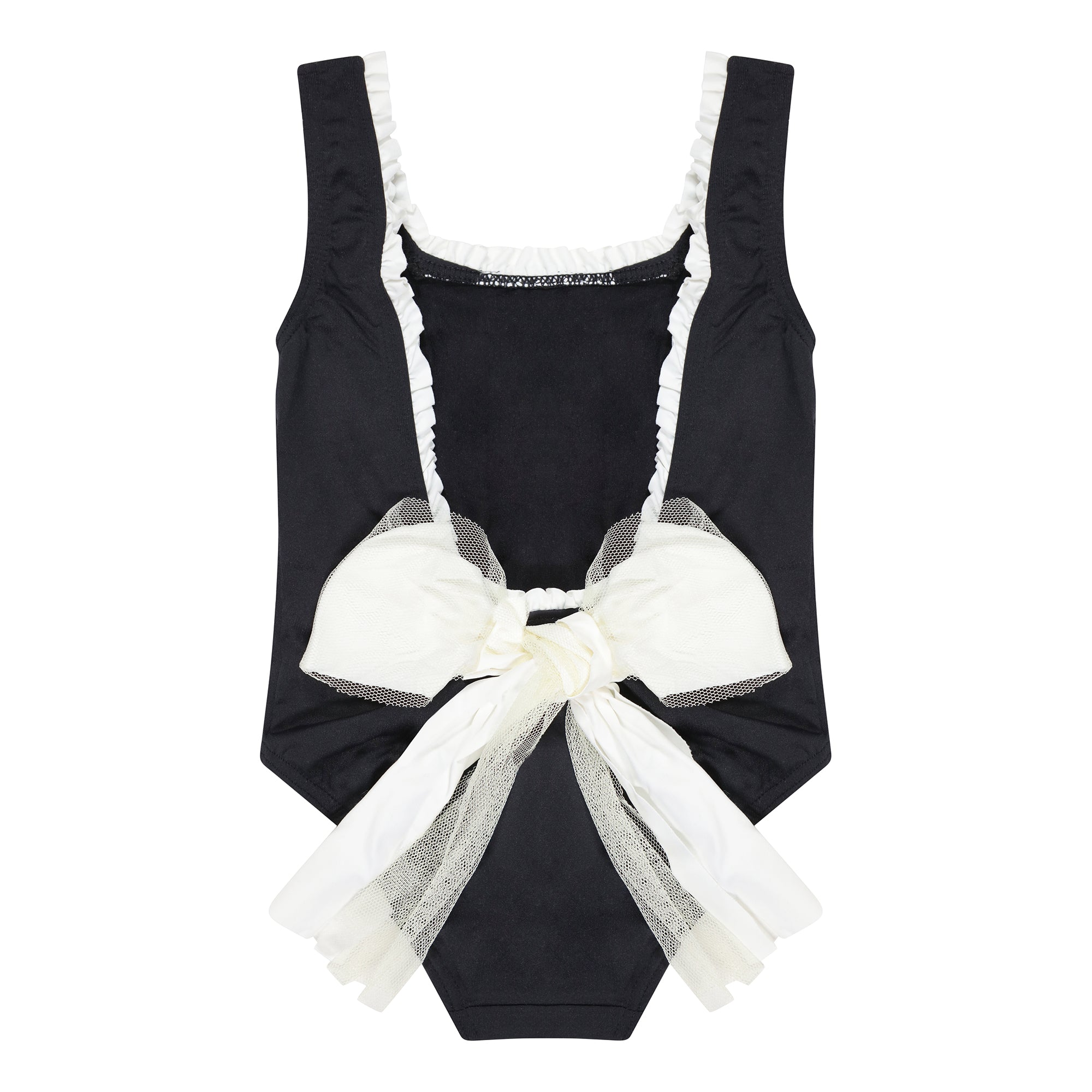 Francia Black & White Bow Swimsuit