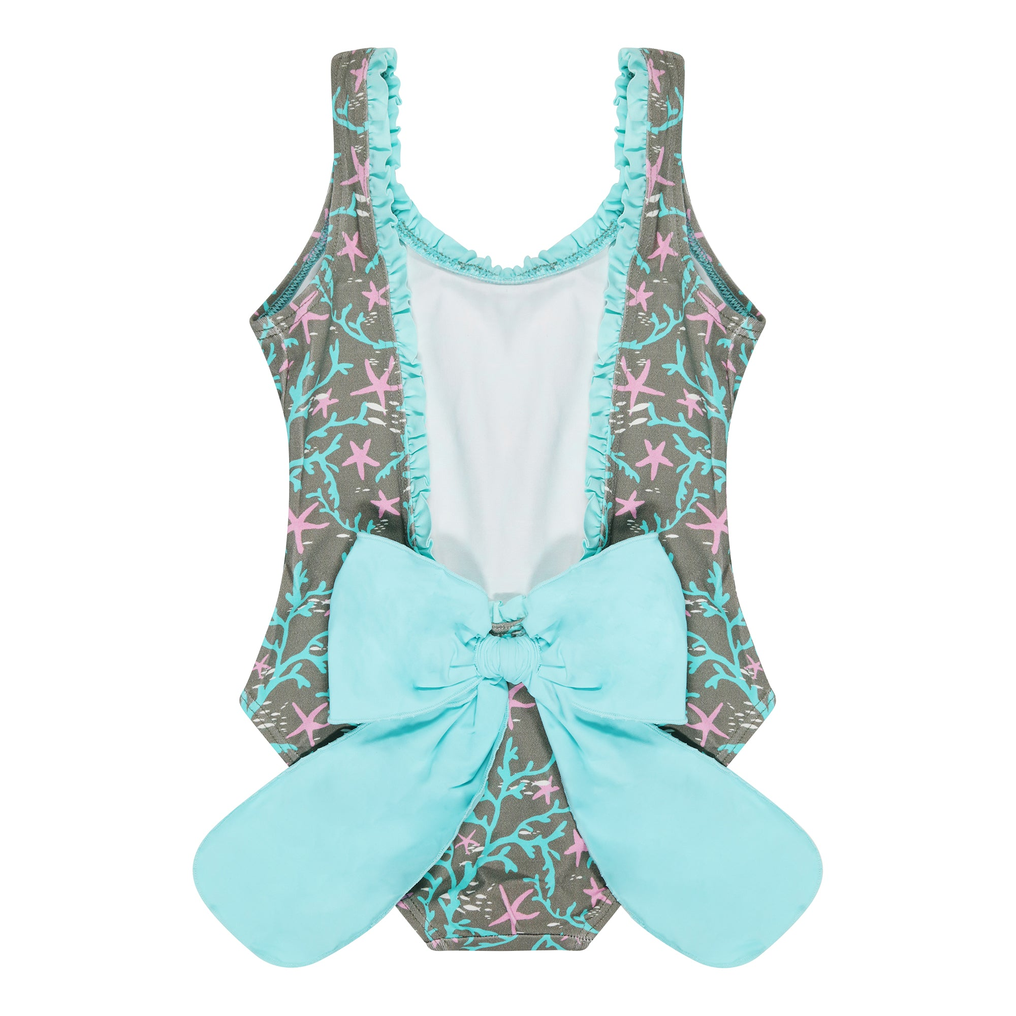 Mejico Coral Print Bow Swimsuit