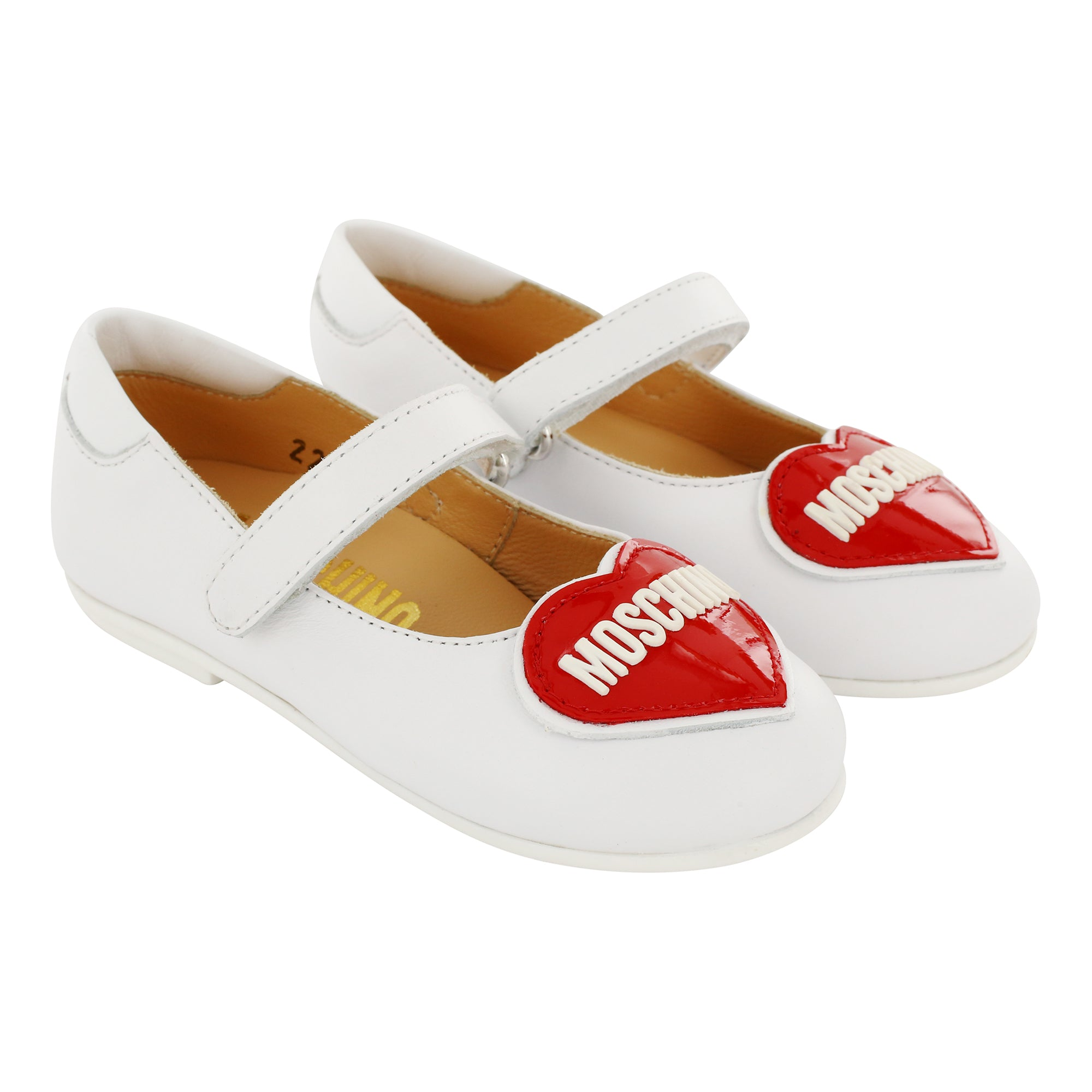 Moschino Leather Patent Red Heart Shoes