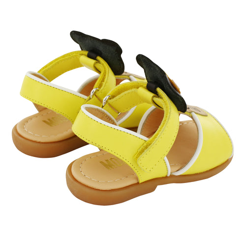Leather Yellow Teddy Sandals
