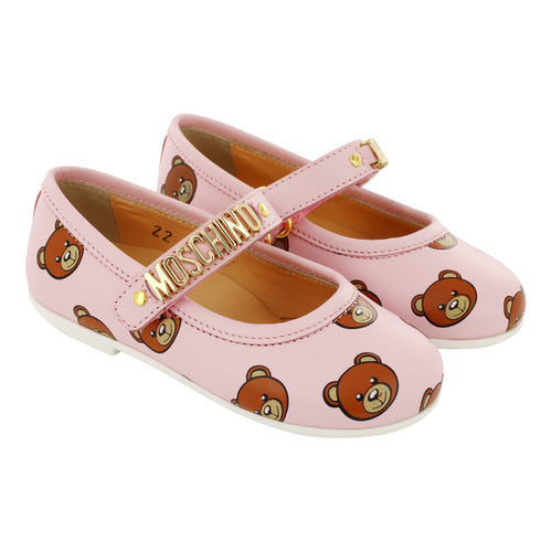 Leather Pink Teddy Shoes