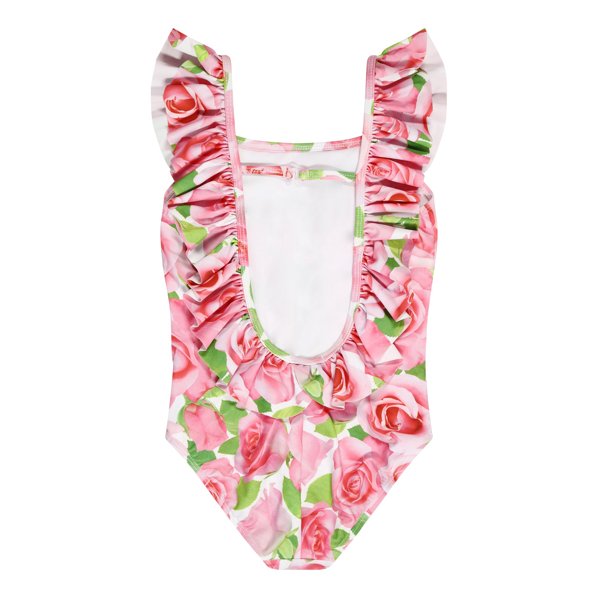 UV50+ Pink Rose Ruffle Swimsuit