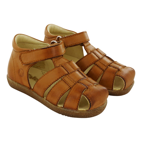 Brown Sand Leather Sandals