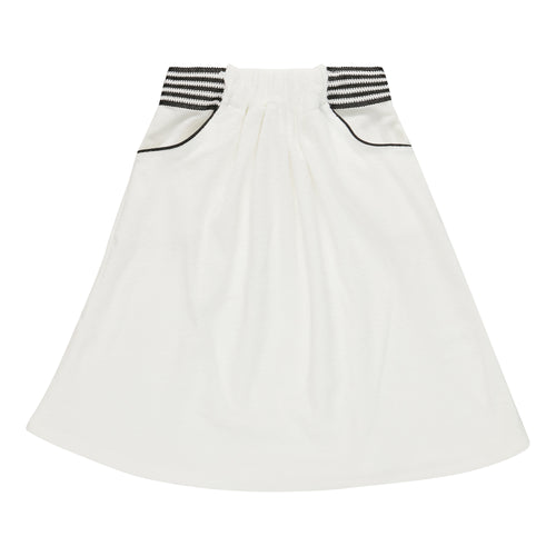White Towelling Skirt