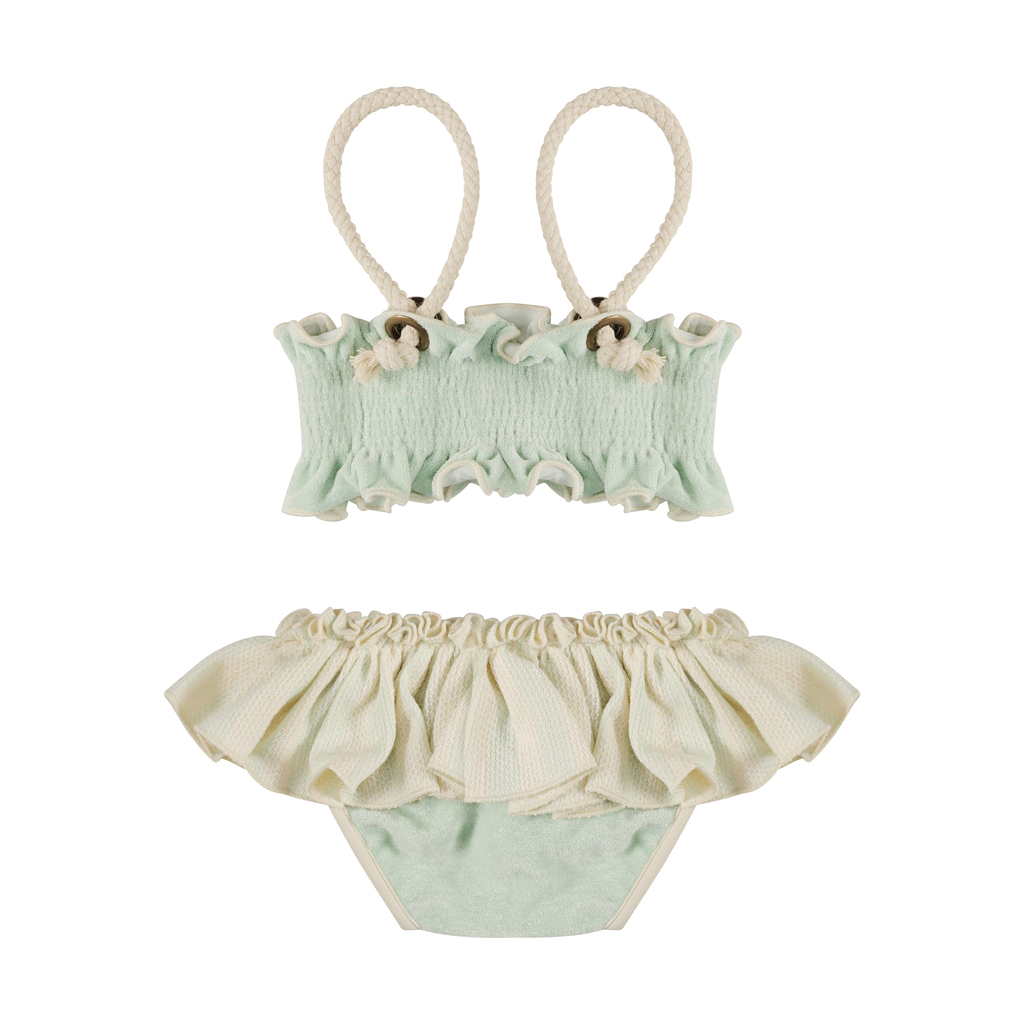 Aquamarine Towelling Scrunch Bikini