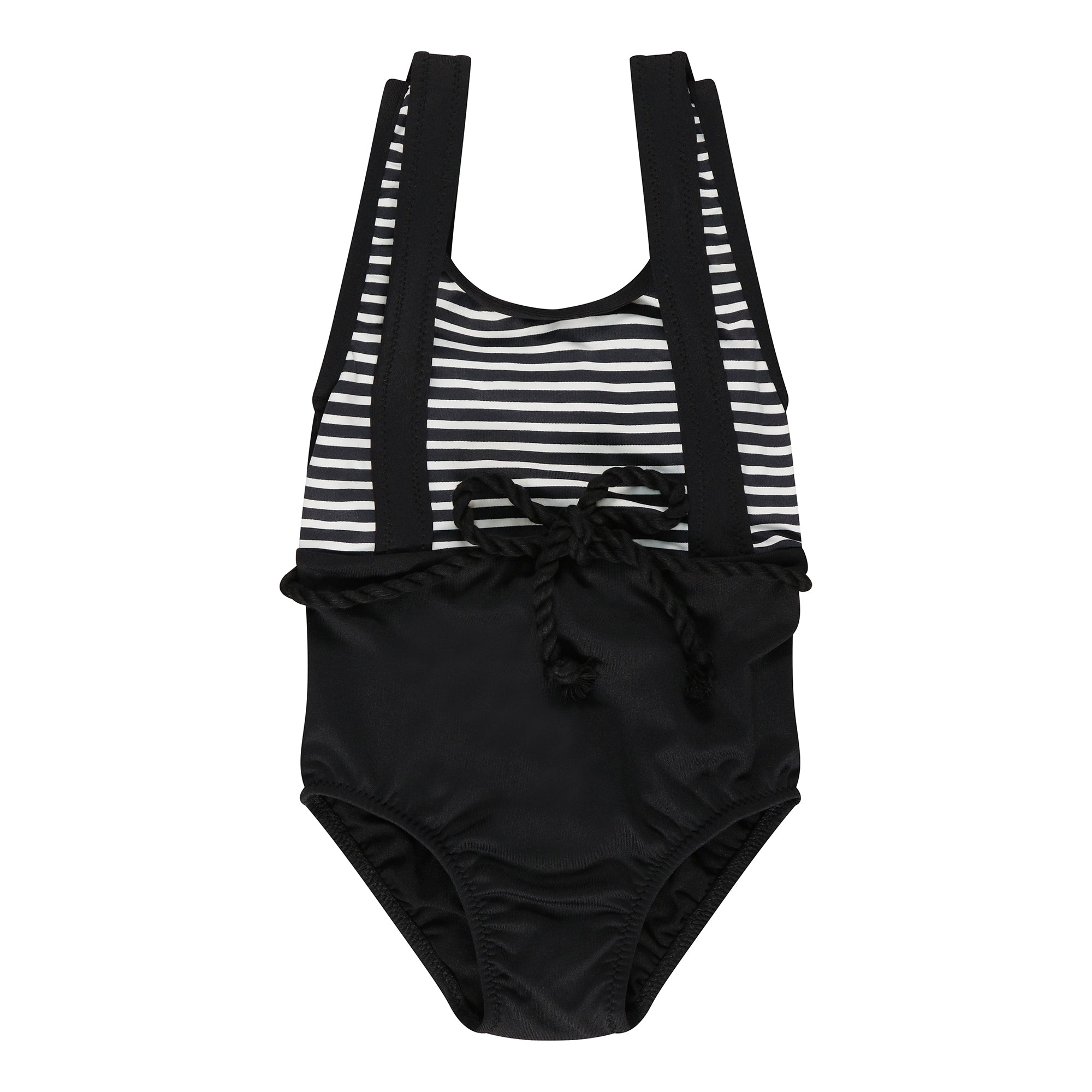 Nautical Black Stripe Swimsuit