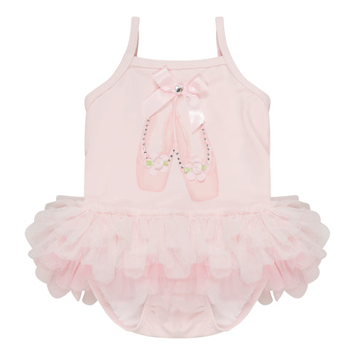 UV50+ Pink Ballet Tutu Swimsuit