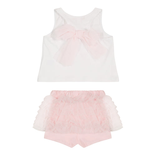 Pink Ballet Bows Baby Outfit