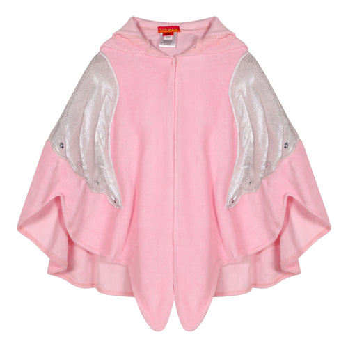 Pink Angel Wings Embellished Towelling Robe