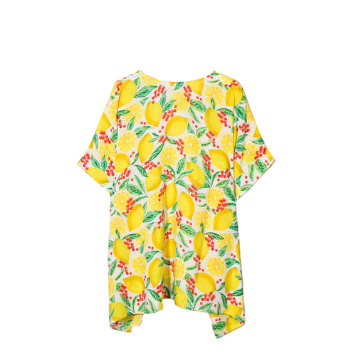 All Over Lemon Print Kaftan Dress