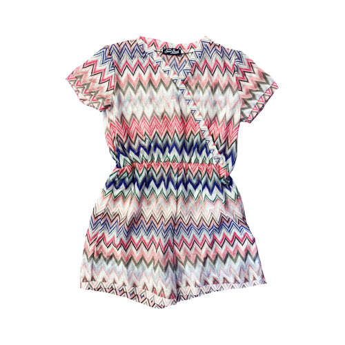 Pink Knitted Zig Zag Playsuit